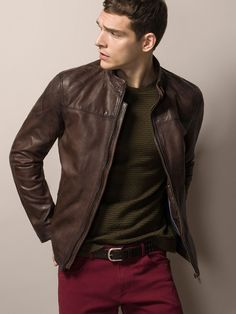 TOP STITCHED NAPPA LEATHER JACKET. <3 SCORPARIA