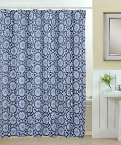 Navy blue Starfish Shower Curtain. Decorate your bathroom with a ...