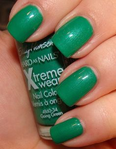 Sally Hansen Going Green. This one will be on my nails St Paddy Day week as well. =)