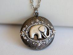 Best+of+Friends+Baby+Elephant+Locket+by+emmagemshop+on+Etsy,+$32.99