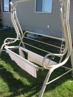 Garden Swing Replace Ripped Canvas With Lawn Furniture Re