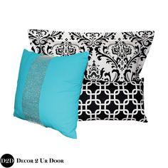 Tiffany Blue & Black Designer Teen Girl Bedding Set