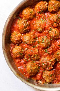 Classic meatballs made with Italian sausage and beef. Freezer-friendly!