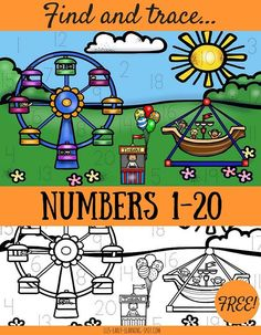 Practice writing numbers with these free activity sheets! Teaching Numbers, Writing Numbers, Math Numbers, Kindergarten Freebies, Kindergarten Activities, Math Stations, Math Centers, Early Learning, Kids Learning