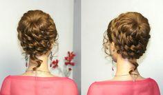Hairstyles for long hair, updo hairstyles. Прическа для длинных волос