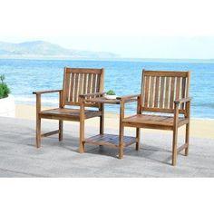 Brea Acacia Twin Seat Garden Bench  sc 1 st  Pinterest & Amazon.com | Kite Chaser Coasters Non Slip Set of 4 Marine Life ...