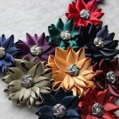 Colorful Flower Bib Necklace Bib Flower by PetalPerceptions