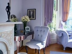 Barbara Barry chair in Lilac