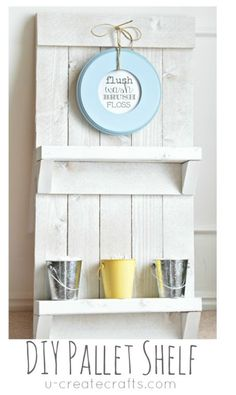 DIY Pallet Shelf & Free Printable