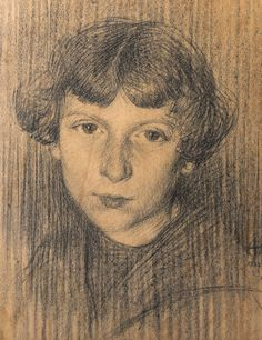 Luigi Varoli/Giovinetta/1922/matita e carboncino su carta, cm43,5x34,5/collezione privata Bagnacavallo RA