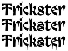 """Trickster is a libre font I released at the end of 2017. When the Velvetyne crew and I published the typeface, I called it """"a smooth blend of Merovingian writing, blackletter influences and…"""