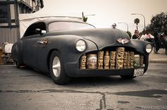 Ink N Iron — This is the greatest thing I've ever found on the Internet… A chopped Buick Super with a Tiki grill!