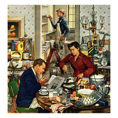 """""""Home Improvement"""", December 5, 1953 Giclee Print by Stevan Dohanos at AllPosters.com"""