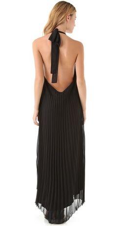 Sheri Bodell Pleated Maxi Dress
