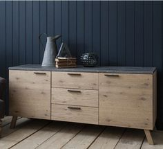 Hudson Living Chilson Oak Sideboard - Modish Living industrial design sideboard