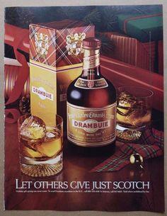 vintage Drambuie print ad advertisement alcohol liqueur christmas holidays coffe
