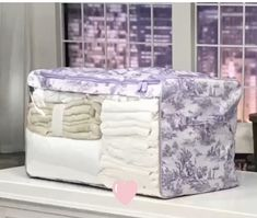 We love this chic Toile de Jouy Rectangular Super Chest, it was @qvc 🇺🇸 They're a best seller on our website - with a large window you can spot what's inside at a glance.  Camouflage your clutter and double your storage space in one strong, lightweight chest.  For more information click through to the website via the link ⬆️ in the bio #storagetobeproudof #storagesolutions #storage #homedecor #organisation #linencupboardinabag #declutter
