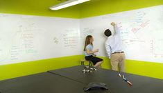 Paint an office wall or an entire conference room to create a unique space to brainstorm and present your next big idea. IdeaPaint transforms virtually any surface in your office into a boundless dry erase canvas, giving you and your team the space you need to collaborate, connect and fully explore your creativity.