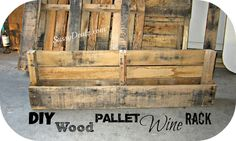 Diy: How To Make A Wine Or Magazine Rack Out Of A Wood Pallet (step By Step…