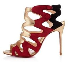 Women Sandals, Women's Shoes, 2013 Europe leather shoes CL red shoes high heel sexy Hollow Roman sandals mixed colors