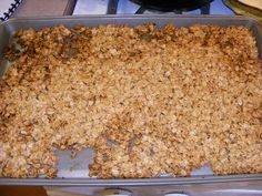 Homemade Granola...we go through so much granola it would be wise to just make my own.