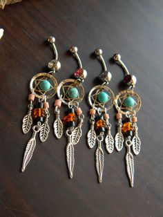 Choose 1 Dream Catcher Belly Ring with Baltic by CLeasBeadwork, $17.50
