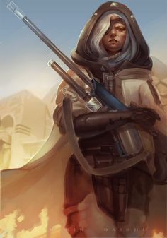 This week's Fan Art Friday spotlight is on Ana Amari from Blizzard Entertainment's Overwatch. Overwatch Comic, Overwatch Fan Art, Character Creation, Character Art, Character Design, Overwatch Support, Overwatch Females, Overwatch Community, Fantasy Paintings