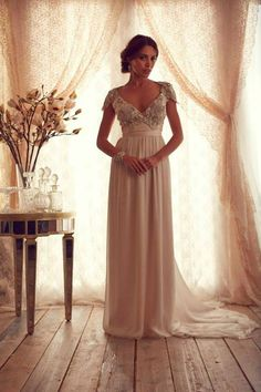 Stunning Wedding Dresses by Anna Campbell 2013...Stunning. Change the color to fit your style. Cheaper to have custom made than purchasing from salon.