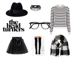 """""""Satsuki:The Missing Melody Quotev"""" by satsuki-may ❤ liked on Polyvore featuring Little Wardrobe London, Oasis, Gucci, Barneys New York, Jeffrey Campbell and blackandwhite"""