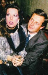 Princess Caroline of Monaco and husband Stefano Casiraghi at Dracula Club Party - St. Moritz /February 28,1986.