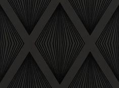 Lawrence Laurito Funky Flock Retro Velvet Wallpaper - Black [FLL-101] : Designer Wallcoverings, Specialty Wallpaper for Home or Office