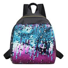 Women Sequins Backpack BlingBling School Bags for Teenage Girls Small Leisure Travel Bag Ruckack Mochila Mini Backpack Women
