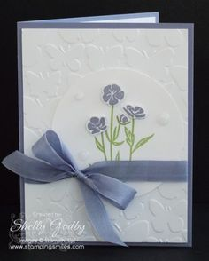 Stampin' Up! Wild About Flowers Card www.stampingsmiles.com