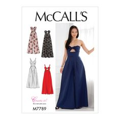 Wonderful Images sewing dresses formal Tips McCall's Misses' Dresses and Jumpsuits - Size Clothing Patterns, Dress Patterns, Jumpsuit Pattern, Jacket Pattern, Mccalls Sewing Patterns, Vogue Patterns, Pattern Sewing, Miss Dress, Jumpsuit Dress