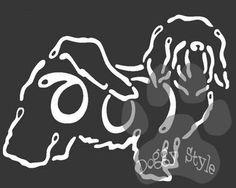 K Line Havanese Dog Car Window Decal Tattoo http://doggystylegifts.com/products/k-line-havanese-dog-car-window-decal-tattoo
