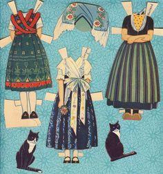 "Rare Antique Paper Doll & Clothes - ""Rachel Taft Dixon"" - 1930's."