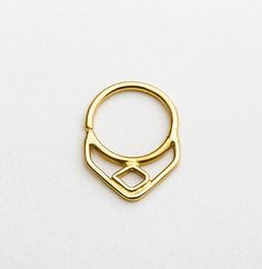 Septum Jewelry Dainty Septum Ring Geometric Septum by StudioMeme