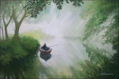 Mr. Turner has gone fishing Soft pastel on sanded paper, 27 x 38 cm