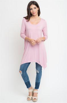 Asymmetrical Tee Dress! S-XL