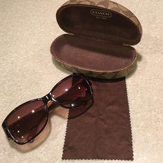 Coach Allie tortoise sunglass Authentic and rare Coach sunglass has gentle used. Coach Accessories Sunglasses