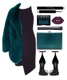 """""""Fur"""" by baludna ❤ liked on Polyvore featuring River Island, VBH, Cushnie Et Ochs, Yves Saint Laurent, NARS Cosmetics, Christian Dior, women's clothing, women, female and woman"""