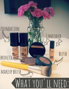 flawless makeup: What you'll need