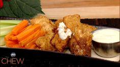Daphne Oz's Buffalo Chicken Spring Rolls recipe. #thechew