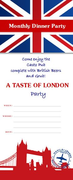 ebbefba7777e8 Invite and Delight  A Taste of London. Could do one for each persons  favorite