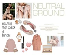 """""""It's a neutral feeling ~"""" by zaxyshoes-co-uk ❤ liked on Polyvore featuring Acne Studios, Madiyah Al Sharqi, Barry M, Bobbi Brown Cosmetics, Topshop and FOSSIL"""
