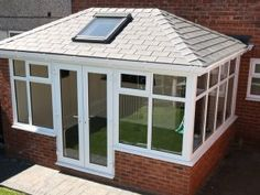 Garden room roof Solid C - gardenroom Glass Conservatory Roof, Edwardian Conservatory, Orangery Roof, Conservatory Extension, Conservatory Design, Replacement Conservatory Roof, Garden Room Extensions, House Extensions, House Extension Design