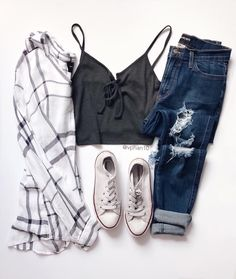School outfits, new outfits, outfits for teens, trendy outfits, cute ou Teenage Outfits, Teen Fashion Outfits, Outfits For Teens, New Outfits, School Outfits, 90s Fashion, Fashion Clothes, Girl Fashion, Fashion Trends