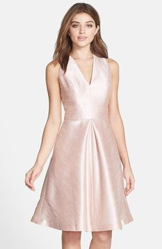 Free shipping and returns on Alfred Sung V-Neck Dupioni Cocktail Dress at Nordstrom.com. A sleeveless V-neck bodice, inset waist and full, invert-pleated skirt define the universally flattering fit-and-flare silhouette of a lustrous dupioni dress.