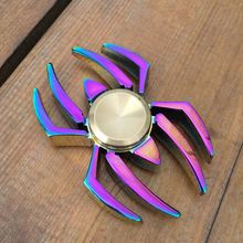 Rainbow Spider Spinner Metal EDC Legal Stress Brinquedos Coloridos Metalen Mão Spiner Handspinner Dedo Figit Figet Spinner(China (Mainland))