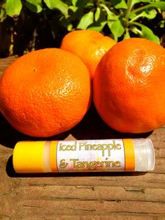 SALE: Iced Pineapple & Tangerine Natural Lip Balm–Made with Shea butter and Jojoba oil